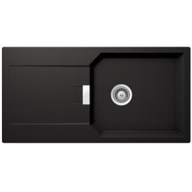 Кухонная мойка Schock MANHATTAN D-100L CRISTALITE+ Nero-13 (Черный)