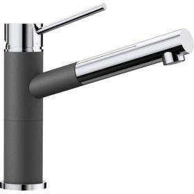 Кухонный смеситель Blanco ALTA - S Compact хром / темная скала 518809