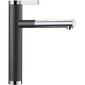 Кухонный смеситель Blanco LINEE - S хром / антрацит 518438