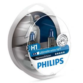 Лампа галогенная Philips H1 Diamond Vision, 5000K, 2шт/блистер