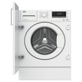 Встраиваемая стирально-сушильная машина Beko HITV8733B0 - 54 см./8кг/5 кг/1400 об./16 прогр/белый