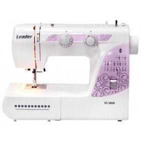 Швейная машина LEADER VS 380А, электромех., 70 Вт, 21 швейная операция, петля автомат, белый/розовый