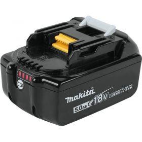 Аккумулятор Makita LXT BL1850B, Li-Ion, 18В, 5Ач, индикация разряда, 0,68кг