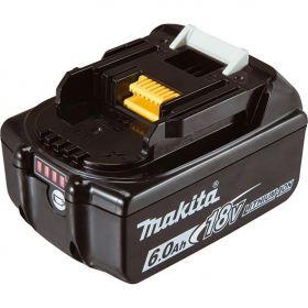 Аккумулятор Makita LXT BL1860B Makita, 18В, 6.0 Ач, индикация разряда (632F69-8) Li-ion, 0,68кг