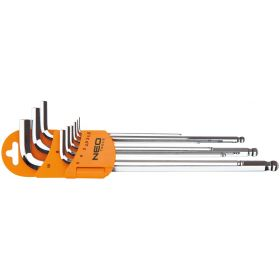 Ключи NEO шестигранные, 1.5-10 мм, набор 9 шт.
