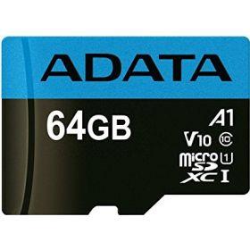 Карта памяти ADATA 64GB microSDXC C10 UHS-I A1 + SD