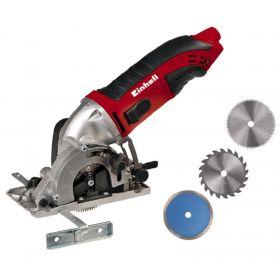 Минипила дисковая Einhell TC-CS 860 Kit, 450 Вт, 85 мм, кейс, набор дисков
