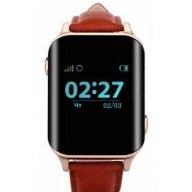 Телефон-часы с GPS трекером GOGPS М01 золотые