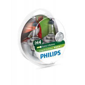 Лампа галогенная Philips H4 LongLife EcoVision, 2шт/блистер