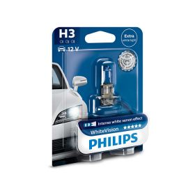 Лампа галогенная Philips H3 WhiteVision +60%, 3700K, 1шт/блистер