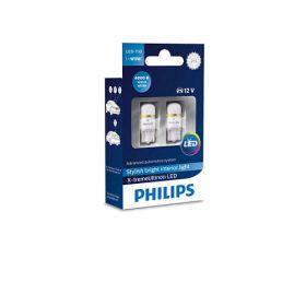 Лампа автомобильная светодиодная Philips W5W X-tremeUltinon  LED, 4000K, 2шт/блистер