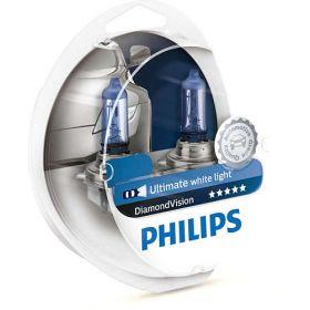 Лампа галогенная Philips H4 Diamond Vision, 5000K, 2шт/блистер