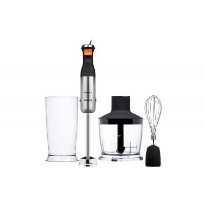 Блендер ручной Ardesto HBK-1601BR - 900Вт/измельчитель/венчик/чаша 0.6л/серебр.-черный