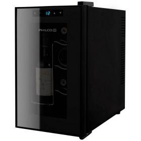 Винотека Philco PW8F 45см/8 бутылок/температур 10-18 С/Led-подсветка/сенсор/дисплей/черный