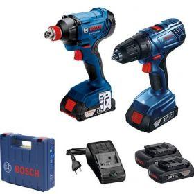 Набор аккумуляторного инструмента Bosch GDX180-LI+GSR 180-LI