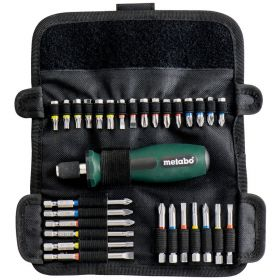 Набор отверток Metabo (30шт.) рукоять-держатель +  25 мм - 16 шт.; 50 мм - 7 шт.; 89 мм - 6 шт.