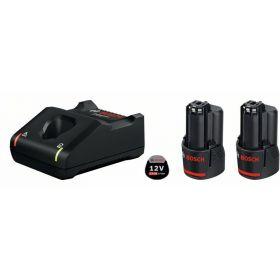 Аккумуляторные батареи с ЗУ Bosch, комплект 2 шт, GBA 12 В 2.0 A*ч + GAL 12V-40