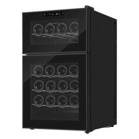 Винотека Philco PW24FD/2 зоны/24 бутылок/температур 8-18 С/Led-подсветка/сенсор/дисплей/черный