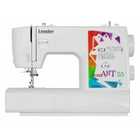 Швейная машина Leader STREET ART55, электромех., 17 швейных операций, петля полуавтомат, белый