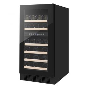 Винотека встроенная Philco PW32DFS/2зоны/32 бутылки/5-18 С/Led-подсветка/сенсор/дисплей/черный