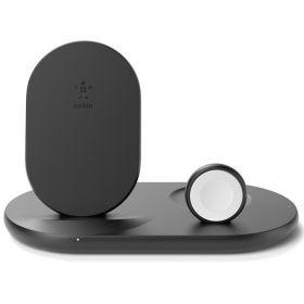 Беспроводное зарядное устройство Belkin 3in1 Wireless Pad/Stand/Apple Watch, black