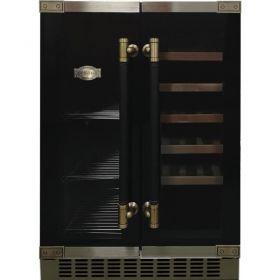 Холод. для вина Kaiser K64800AD, 82х57х60см, 1 дв., Холод.отд. - 145л, B, Полок - 8, Бут.- 66шт, Темп.зон - 2, Черный (стекло)