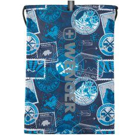 Рюкзак Wenger, FlowUp, лёгкий, шнуровые лямки, (синий)