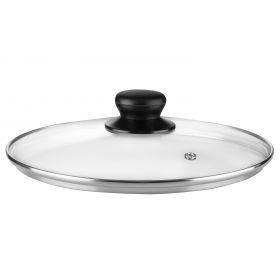 Крышка Ardesto Gemini Gourmet 22 см, стекло, нержавеющая сталь, бакелит