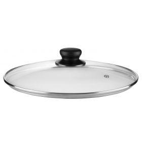 Крышка Ardesto Gemini Gourmet 26 см, стекло, нержавеющая сталь, бакелит